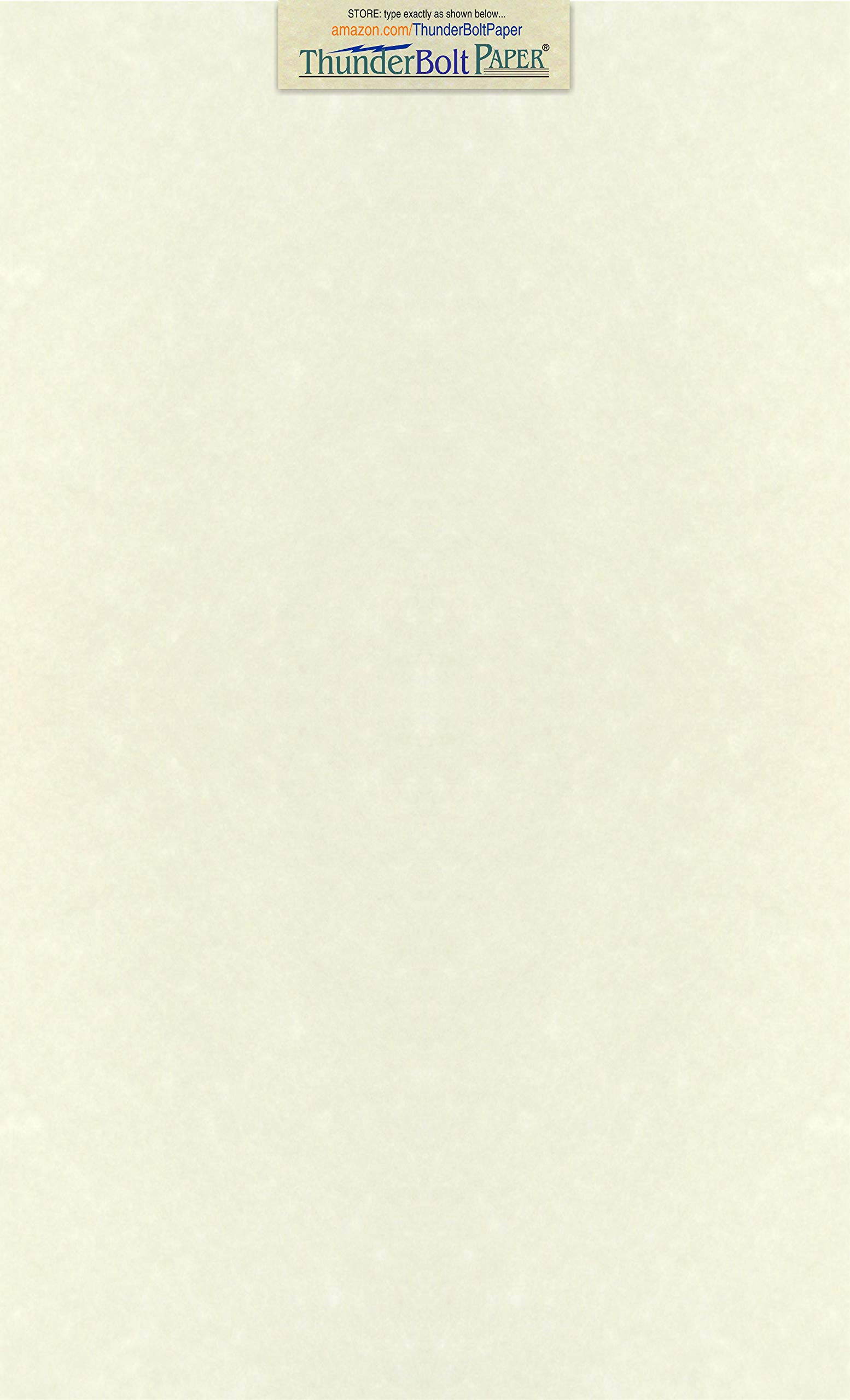 50 Soft White Parchment 60lb Text Weight Paper - 8.5'' X 14'' (8.5X14 Inches) Legal|Menu Size - 60 Pound is Not Card Weight - Vintage Colored Old Parchment Semblance by ThunderBolt Paper