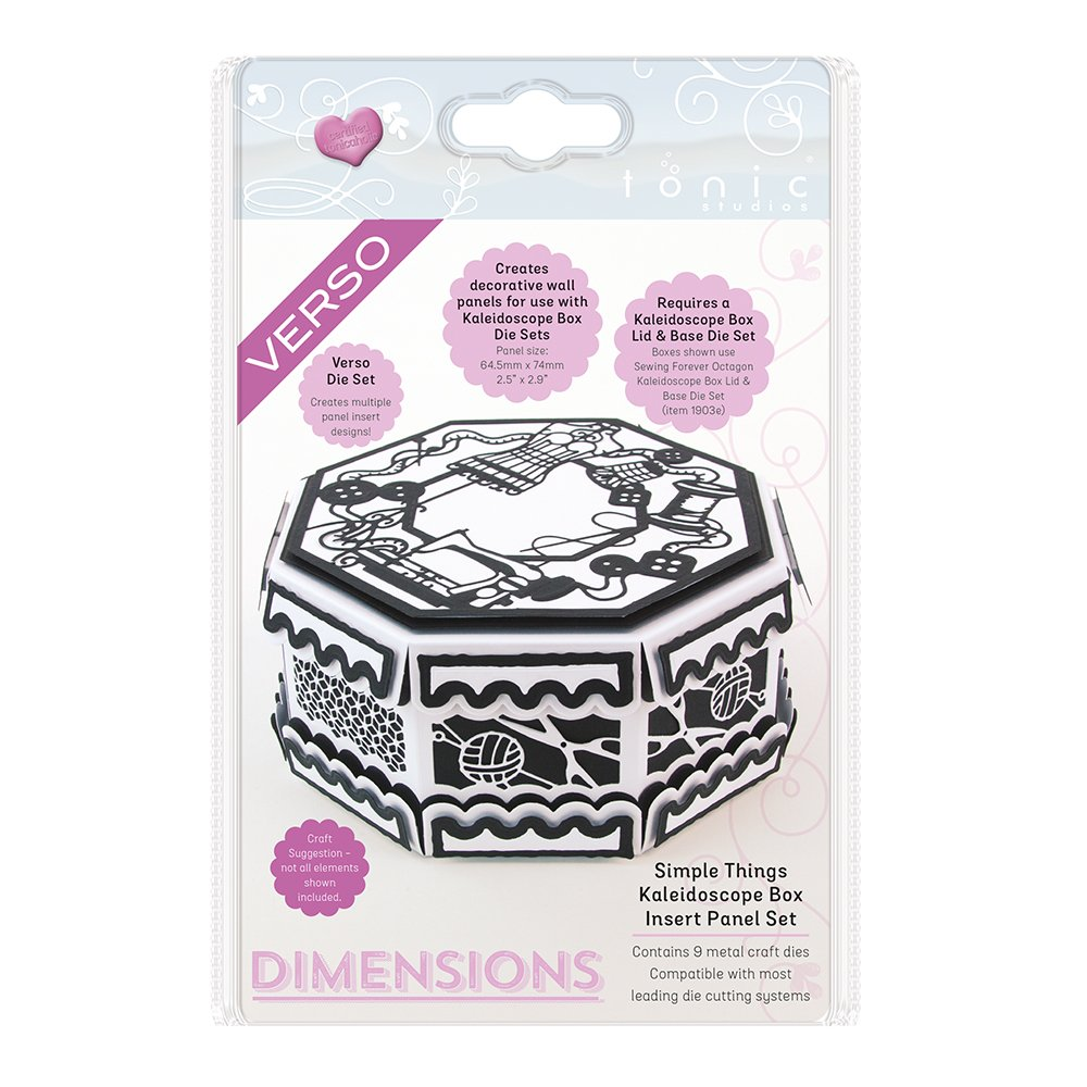 TONIC STUDIOS Simple Things Kaleidoscope Box Insert Verso Dimensions Dies 1907E