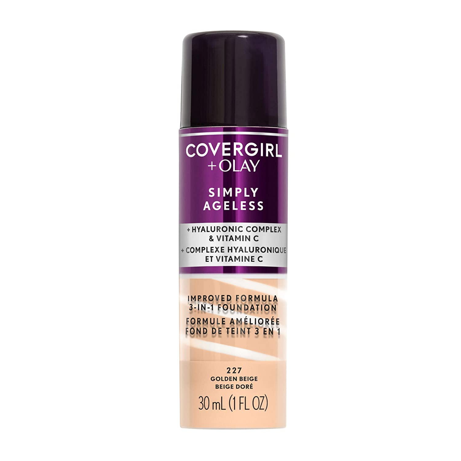 Covergirl & Olay Simply Ageless 3-in-1 Liquid Foundation, Golden Beige