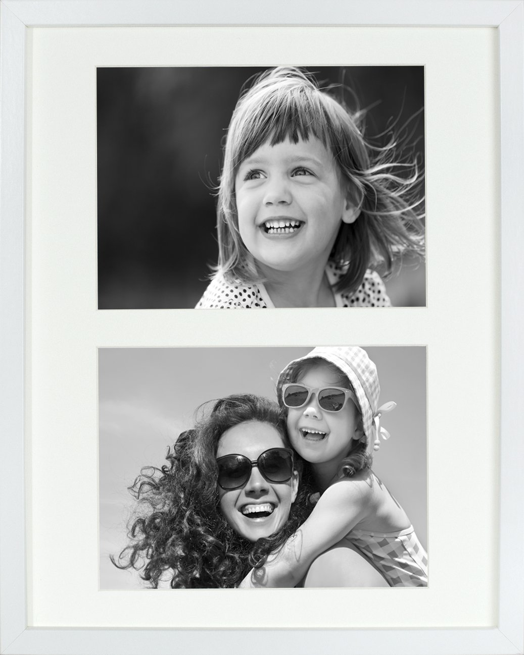 17 x 23 cm (7 x 9-Inch) - 2 Aperture Picture Photo Frame for 6 x 4-Inch photo, WHITE BD ART