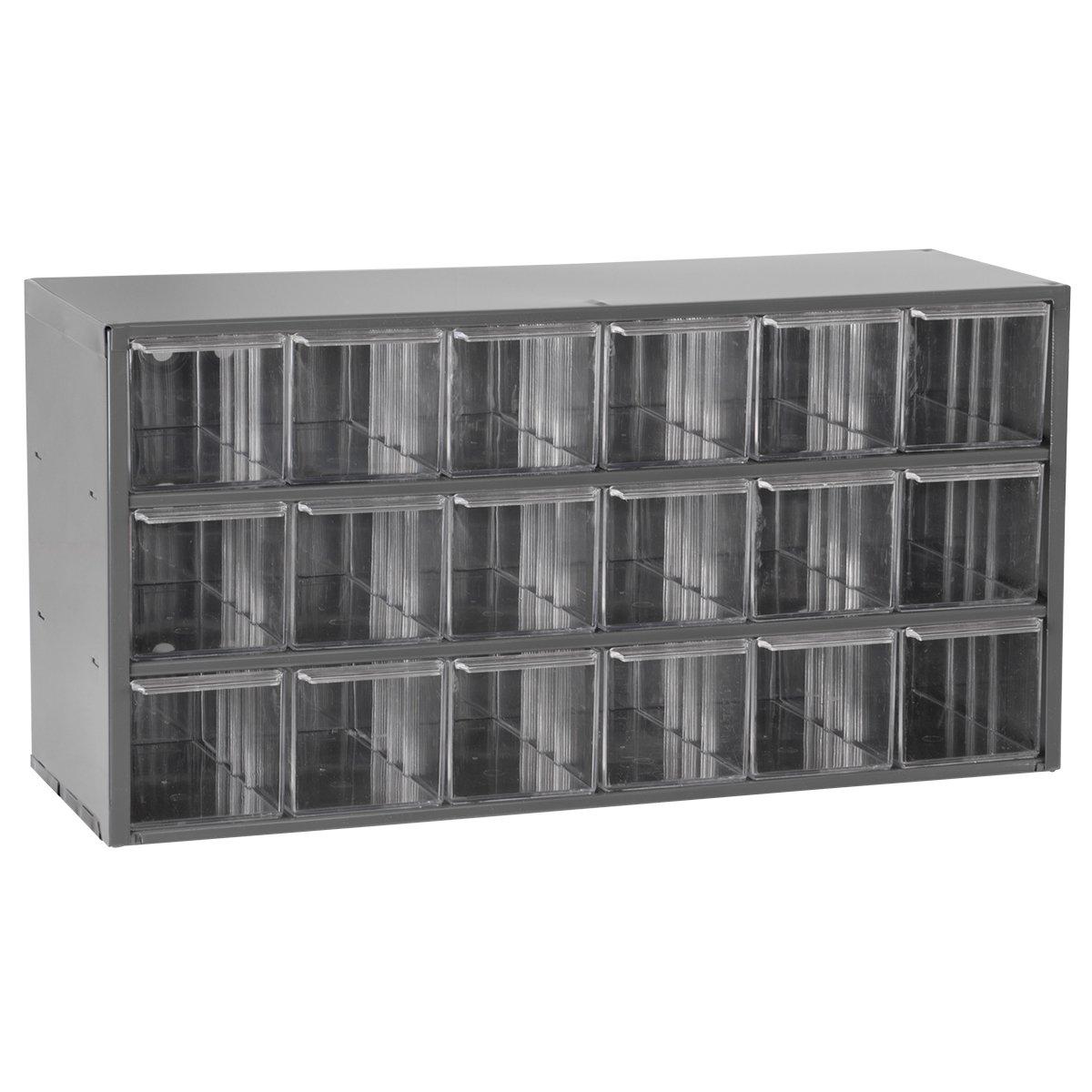 Akro-Mils 17018 18 Drawer Steel Parts Storage Hardware and Craft Cabinet, Grey