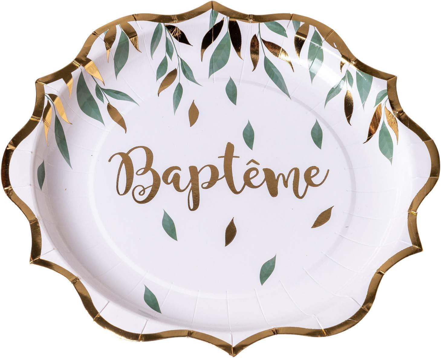 8 Assiettes BAPT/ÊME V/ÉG/ÉTAL