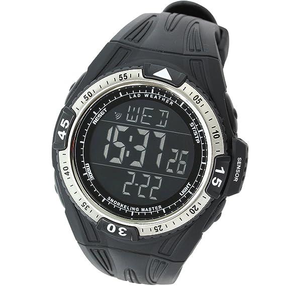[LAD WEATHER] Sensor Suizo Reloj de Buceo Medición de Profundidad Temperatura de Agua Deporte Hombre Relojes de Pulsera: Amazon.es: Relojes