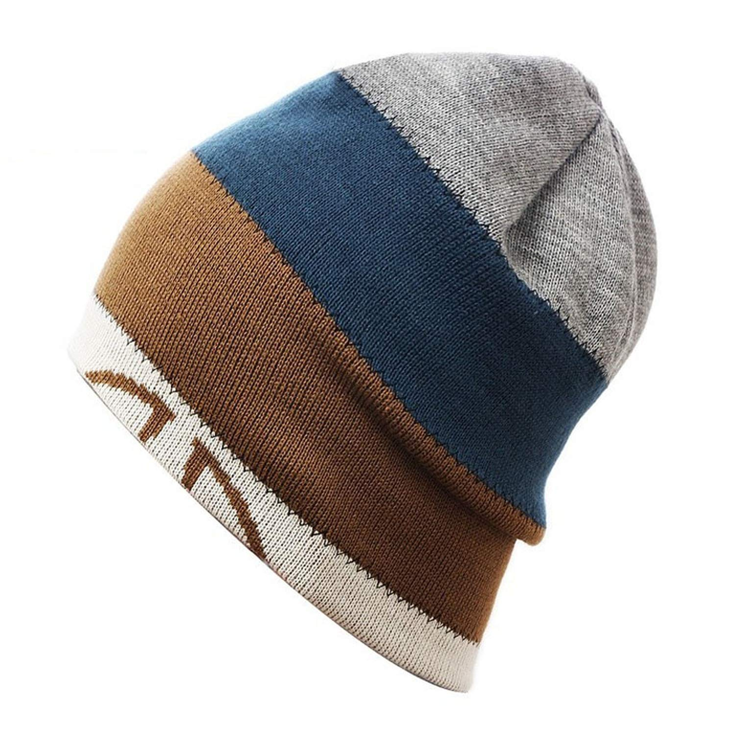 MEIZOKEN Unisex Winter Knitted Men Women Hats Skullies and Beanies Wire Caps Thermal Ski Hat Double-Sided Cap