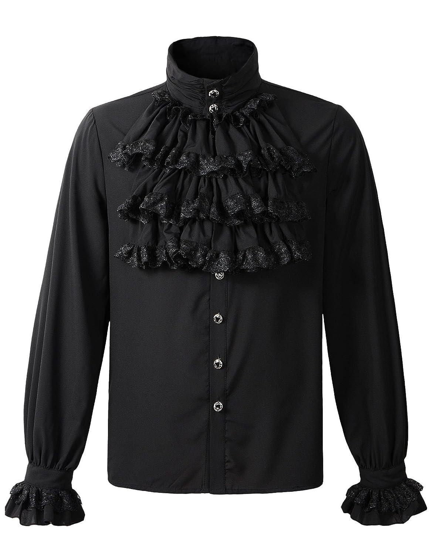 2ed152e87ab1 Top1: DarcChic Mens Gothic Shirt Top Steampunk Victorian Regency Aristocrat