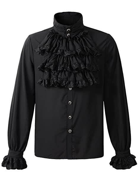 Amazon.com: darcchic camisa parte superior Steampunk gótico ...