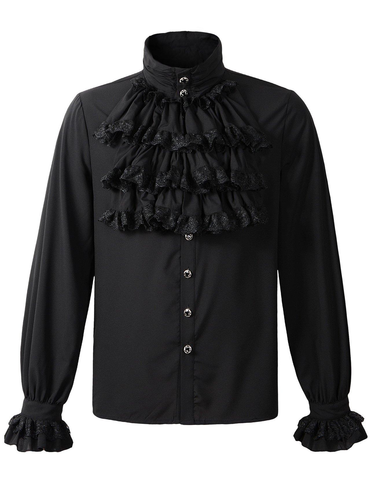 DarcChic Mens Gothic Shirt Top Steampunk Victorian Regency Aristocrat 3