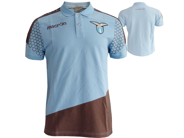 Macron Lazio ROM Piquet Polo de Camisa/Fan de Jersey Color Azul ...