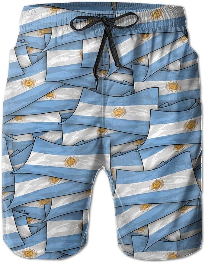 wwoman Pantalones Cortos de natación para Hombres Pantalones Cortos de natación de Argentina Bandera Wave Collage Pantalones Cortos de Playa de Secado rápido: Amazon.es: Ropa y accesorios