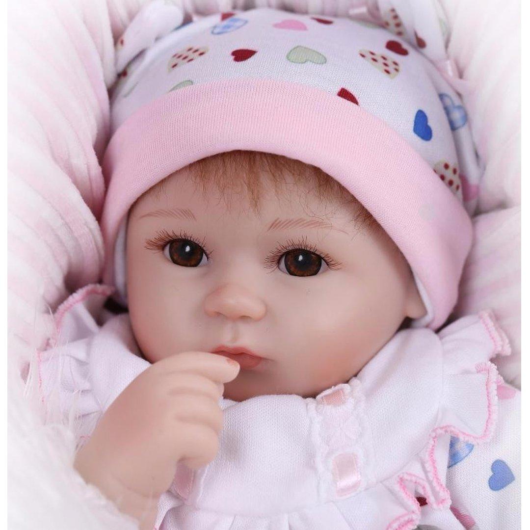 ZIYIUI 16  Birthday Doll Newborn Lifelike Realistic Doll Baby Doll Xmas Gift Toy