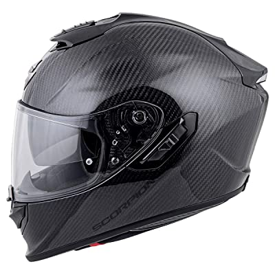 Scorpion ST1400 Carbon Helmet (X-Large) (Black): Automotive [5Bkhe1006386]