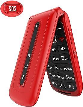 Teléfono móvil con botón grande desbloqueado para ancianos ...