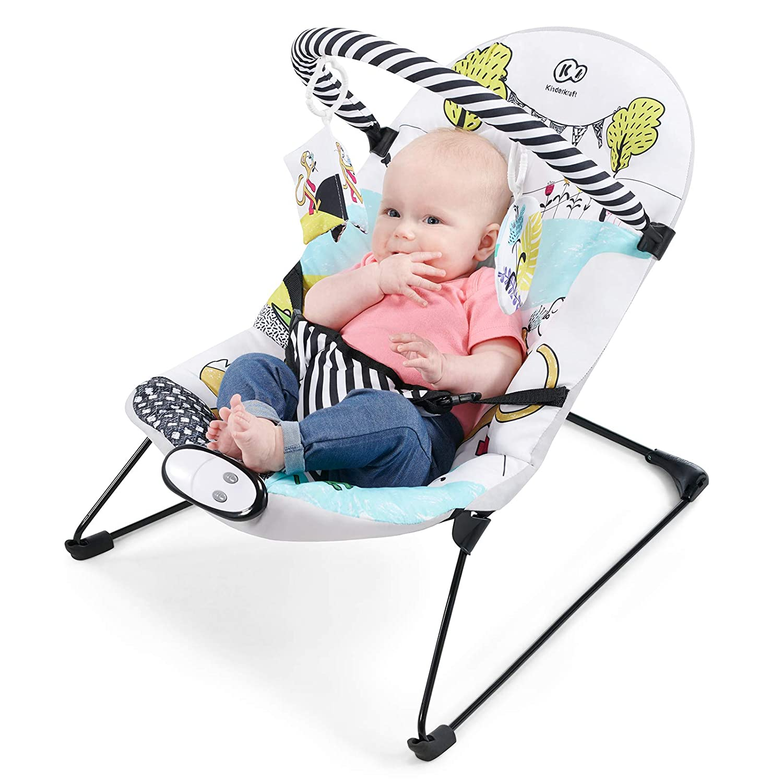 Spielzeugen Babyschaukel 3 Punkt Gurte Kinderkraft Babyliege MILYFUN Licht 8 Melodien und 3 Vibrationsstufen mit Spielbogen f/ür Kinder bis 9 kg Babywippe Einfach zu Transportieren
