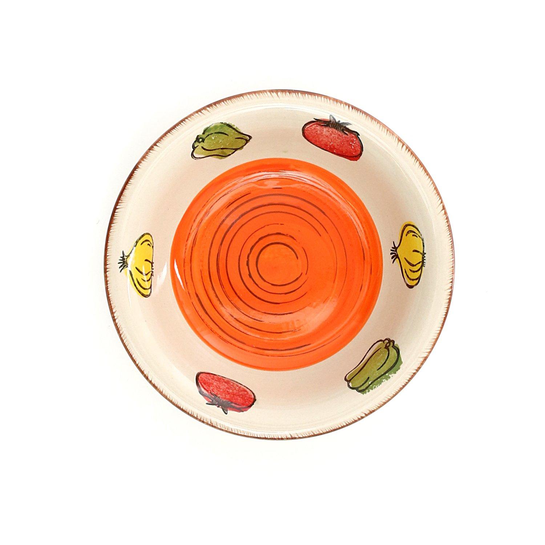Set piatti vegetable di kasanova, 18 pezzi: amazon.it: casa e cucina