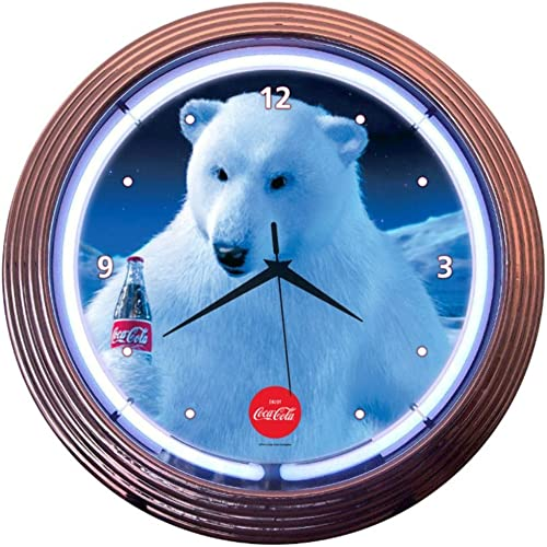Neonetics Drinks Coca Cola Polar Bear Neon Wall Clock