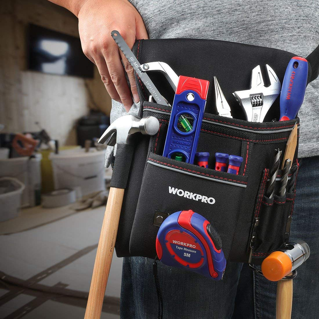 WORKPRO 10-inch Open Tote Tool Bag 25CM x22CM x28CM