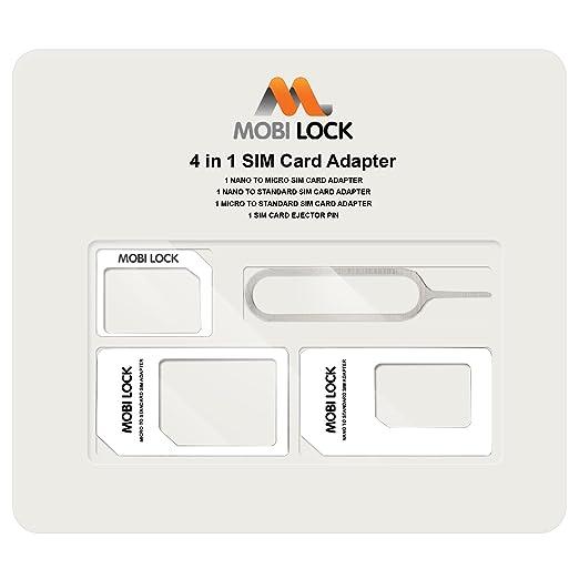 84 opinioni per Mobi Lock Adattatore Sim Card 4 in 1