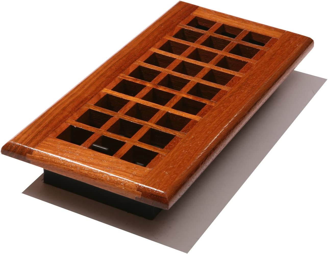 4-Inch by 12-Inch Natural Oak Decor Grates WL412-N Wood Louver Floor Register