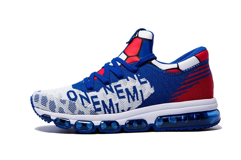 Onemix Air Hombre Zapatos para Correr Transpirable Zapatillas de Running para Mujer Deportivas Calzado Unisex Adult 43 EU|Azul / Blanco
