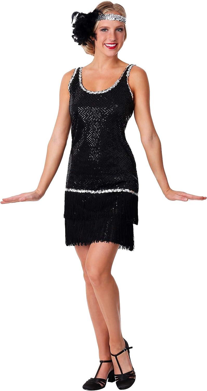 Women\'s Black Flapper Dress Plus Size Flapper Dress Costume