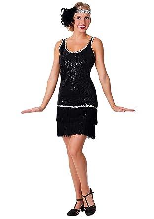 Amazon.com: Women\'s Black Flapper Dress Plus Size Flapper Dress ...