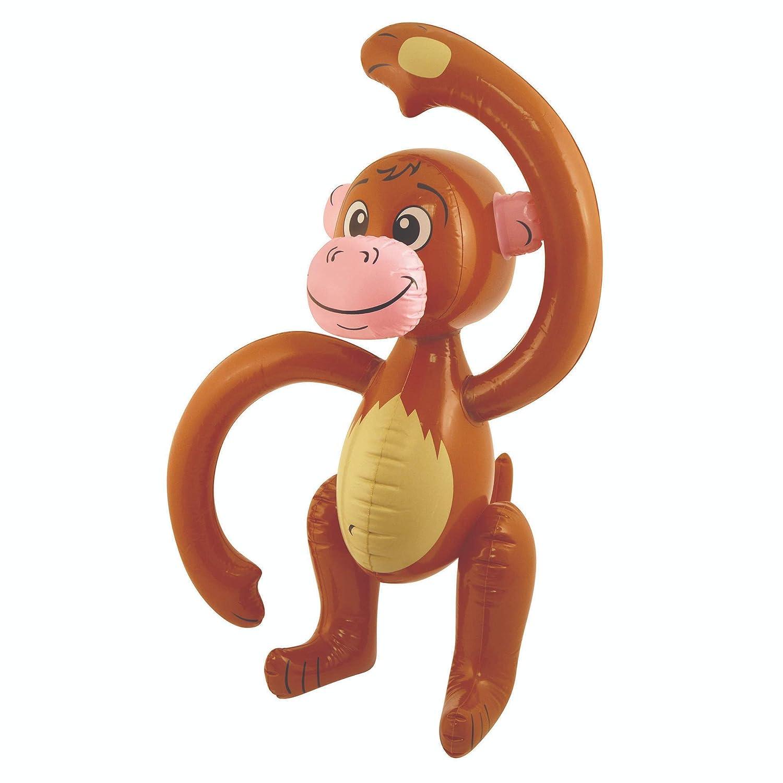 Inflable 58cm Monkey Blow Up Chimp Party Decoración Accesorio ...