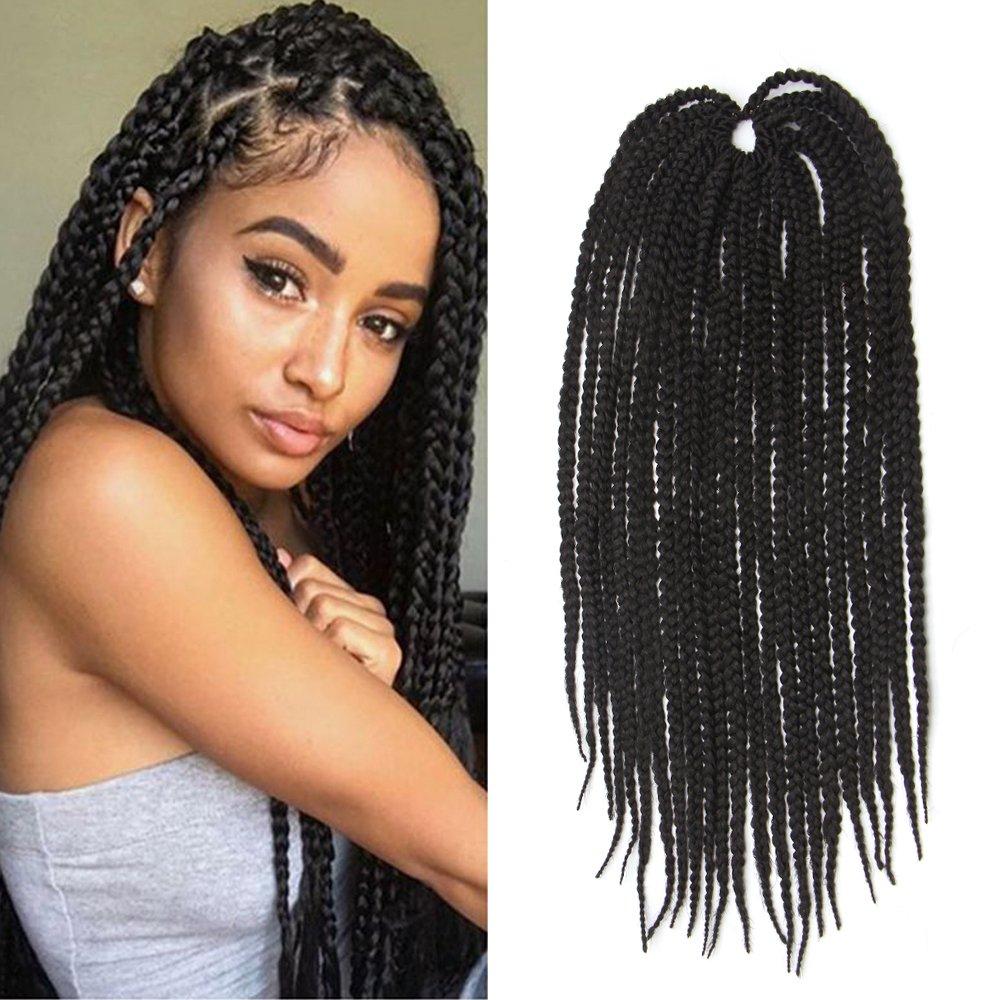 Amazoncom Feibin Synthetic Hair Crochet Braids Medium Box Braids