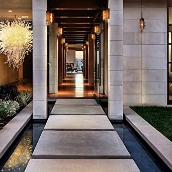 Villa jardín lámpara de pared decorativa exterior retro impermeable exterior bronce aluminio lámpara pared pasillo exterior lámpara de pared accesorio de iluminación: Amazon.es: Iluminación