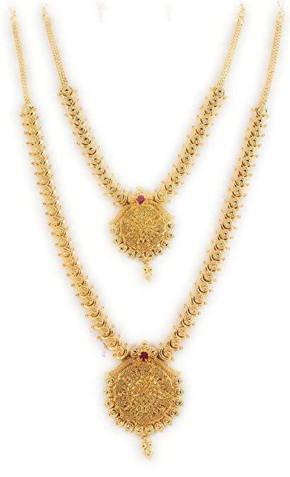 Buy Sukra Gold 1 Gram Micro Gold Plated South Indian Traditional