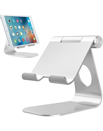 Soporte Tablet, Bovon Multiángulo Soporte iPad, Soporte móvil, Base Dock Ajustable para iPad