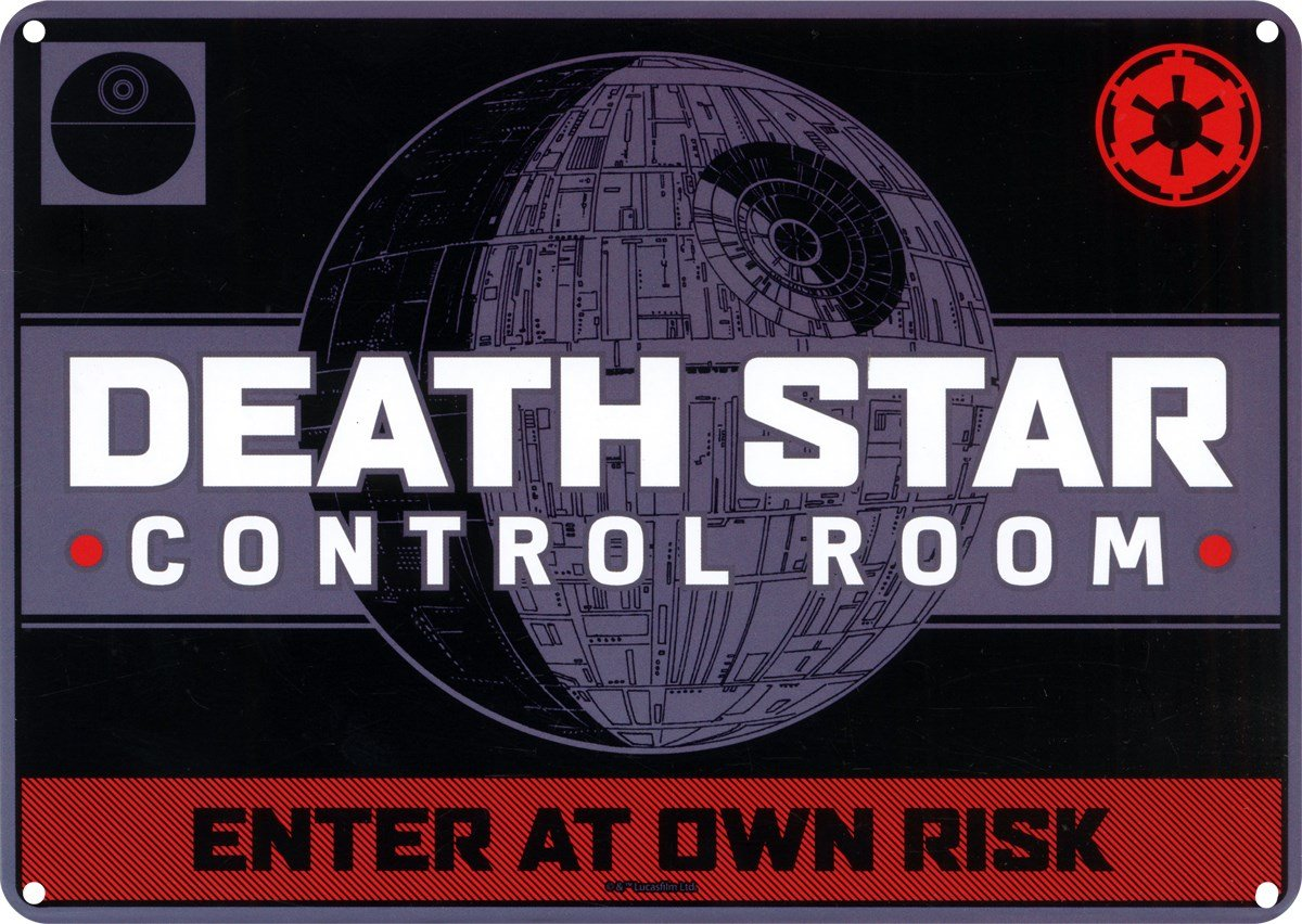 Star Wars Death Star Control Room Small Tin Sign HMB SSA5SW03