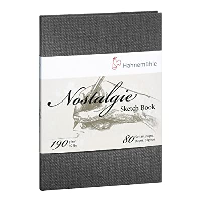 Hahnemuhle Nostalgie Sketch Book Portrait A6 (5.8X4.1 inches) 190gsm 40 sheets/80 pages: Hogar