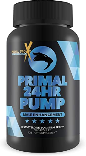 Primal 24 HR Pump – Release Your Inner Alpha Power – N02 Muscle Pump Blend with L-Arginine and L-Citruline – by Primal Pro XR Shredded Test-Fx –