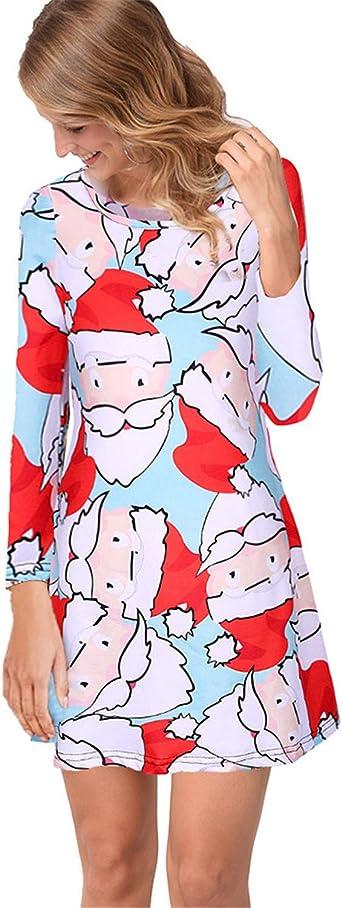 Jier damska sukienka na Boże Narodzenie, z długim rękawem, na imprezę, Boże Narodzenie, druk, nowość, sukienka typu swing, top z długim rękawem, linia A, wystająca sukienka: O
