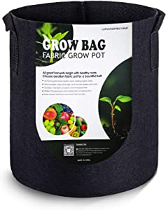 VIPARSPECTRA 10-Pack 3 Gallon Grow Bags - Thickened Nonwoven Aeration Fabric Pots Container with Heavy Duty Durable Handles for Garden Indoor Plants