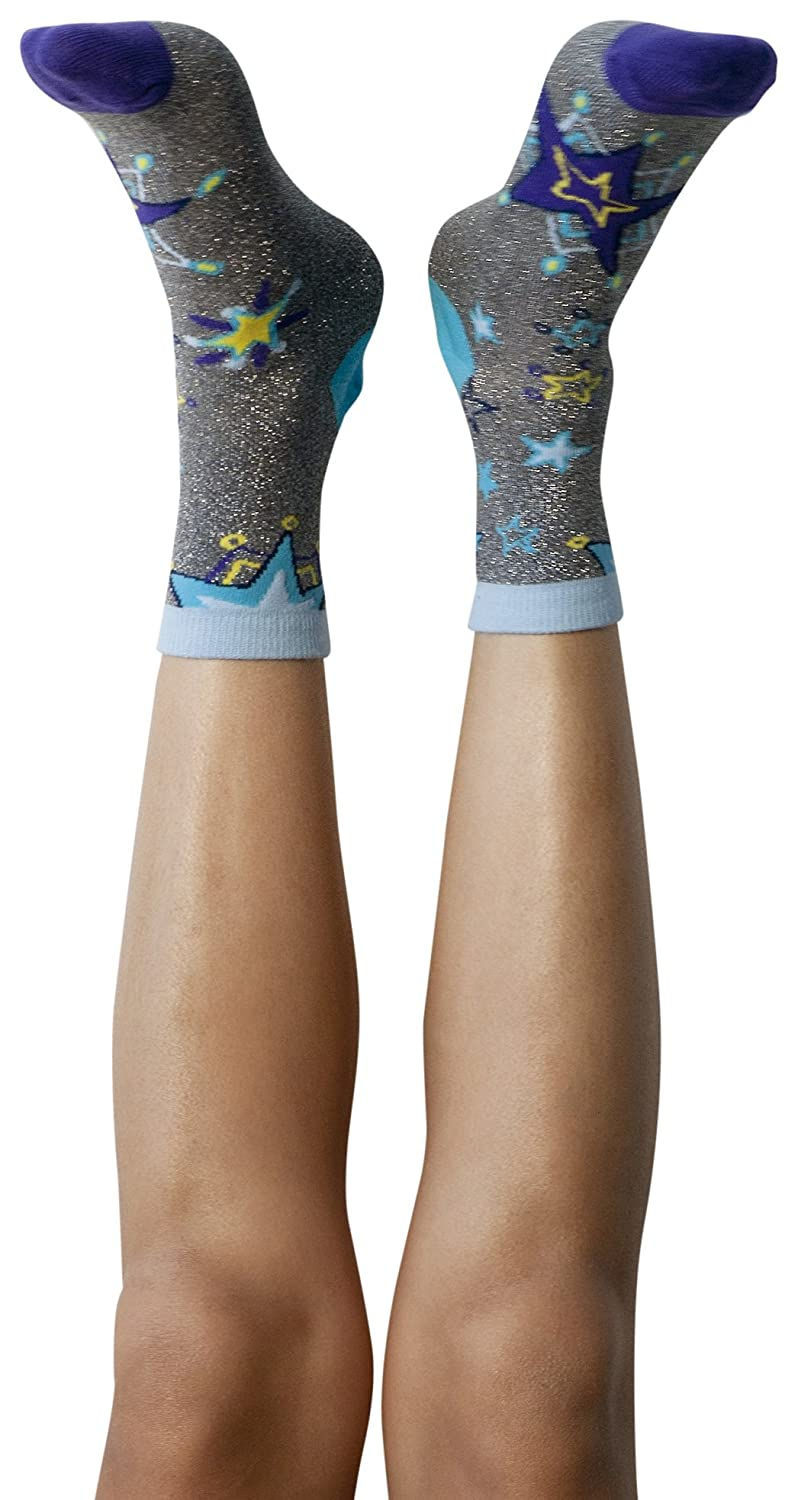 Peony and Moss Women's Constellation Patterned Crew Socks, One Size