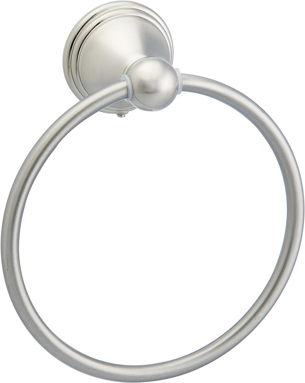 Basics AB-BR807-SN Modern Towel Ring, 6.3-inch Diameter, Satin Nickel: Home Improvement