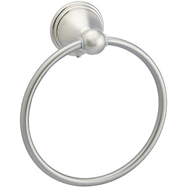 AmazonBasics Modern Bathroom Hand Towel Ring, Satin Nickel