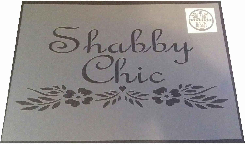 Pochoir Grand format A3 verre 125/microns r/éutilisable en Mylar tissu meubles 172 Style shabby chic fran/çais
