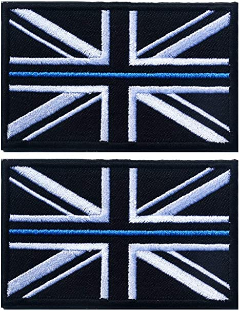 Yigaetch Parche Bordado británico, 2 Piezas, Bandera de Reino Unido, Bandera de Inglaterra, Parche para Coser o Planchar, Línea Azul Delgada: Amazon.es: Deportes y aire libre