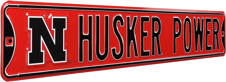 Authentic Street Signs NCAA Nebraska Cornhuskers Metal Wall Decor- Large, Heavy Duty Steel Road Sign