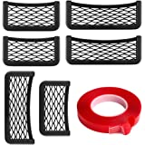 CUGBO Car Storage Net Bag, 6 Pack ABS Plastic Frame with Stretchable Mesh Net, Universal String Bag Car Seat Side Back…