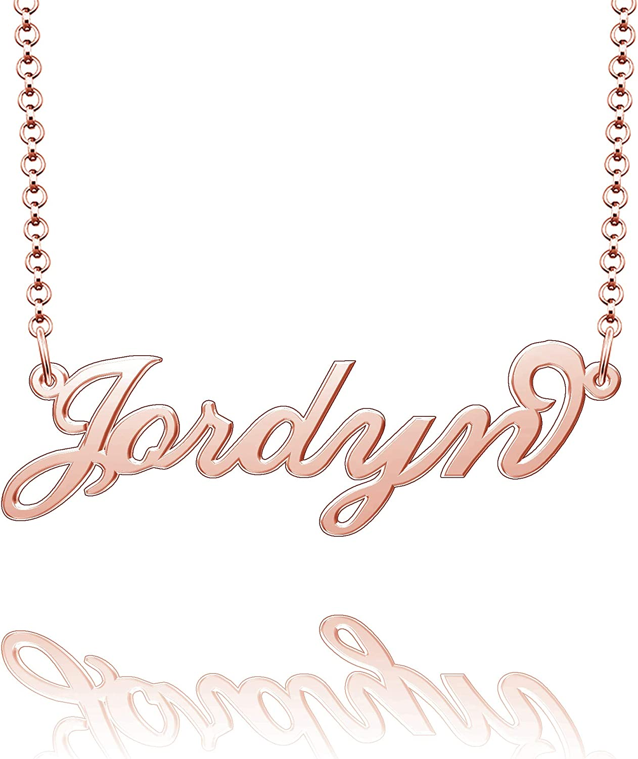 Moonlight Collections Name Plate Necklace Personalized Necklace Desiree
