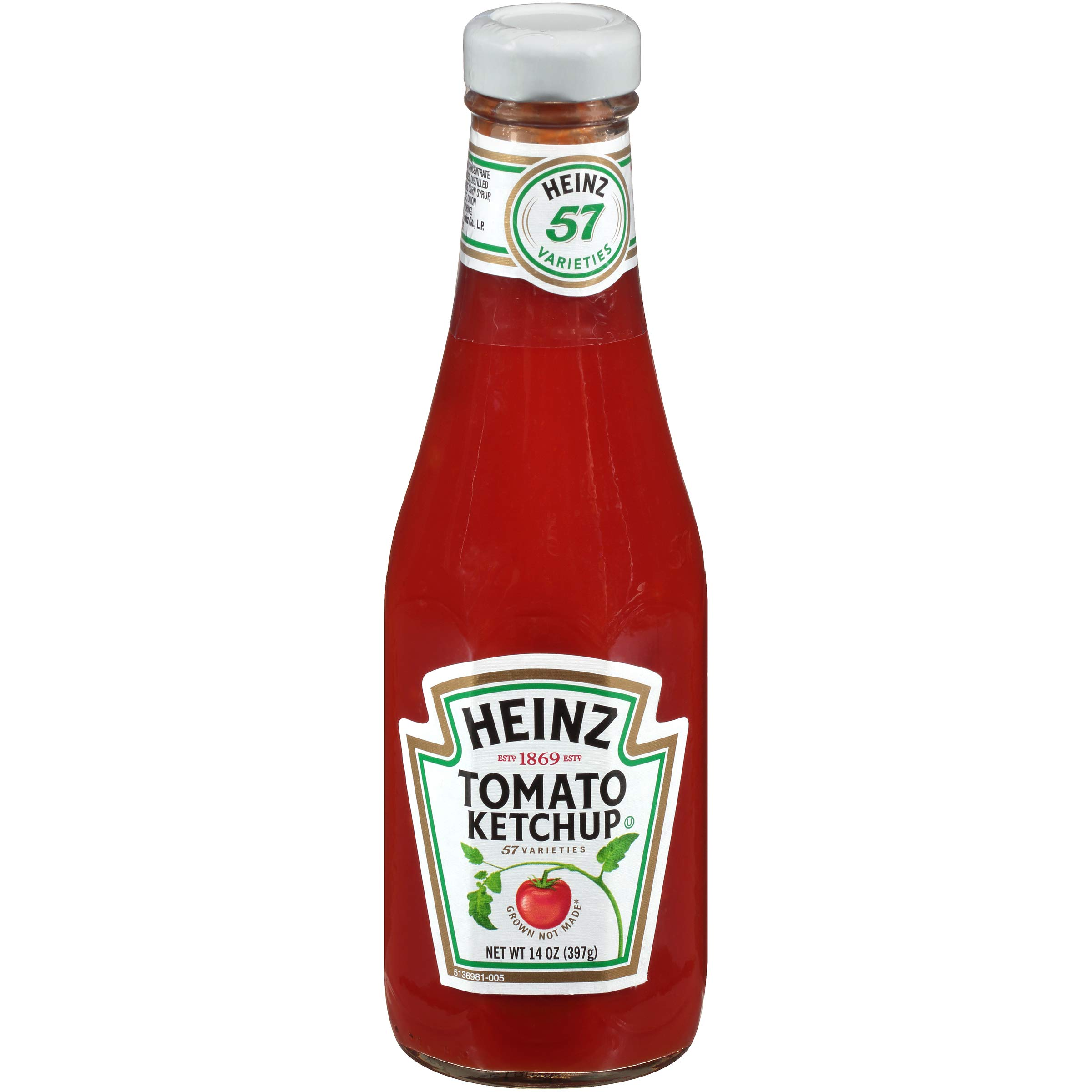 HEINZ Ketchup, 14 oz. Glass Bottles (Pack of 24) by Heinz