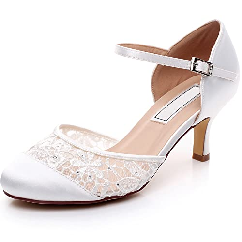 3b6ffe50d76 YOOZIRI Women Shoes Wedding Shoes With Silver Rhinestone and Lace ...