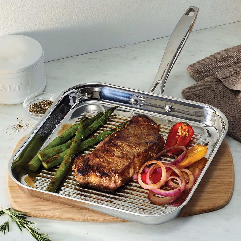 Tramontina 80116/072DS Grill Pan, 11 Inch, Stainless Steel by Tramontina (Image #3)