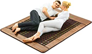 HealthyLine 3-in-1 Mesh Infrared Heating Pad - Queen 80in x 40in -[FSA Eligible] Hot Therapy for Sciatica, Arthritis, Back Pain Relief - Adjustable Temp, Auto Off, 210 of Jade Tourmaline, 270 Watt