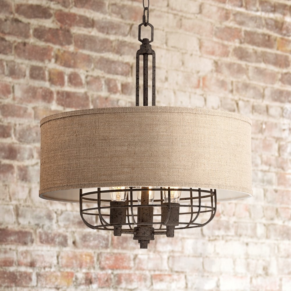 Tremont 20'' Wide Rust Pendant Light by Franklin Iron Works by Franklin Iron Works (Image #2)
