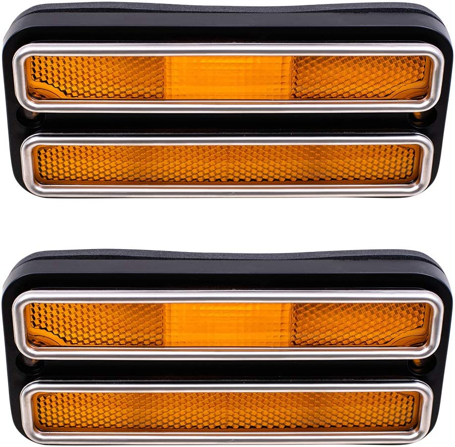 2 1969-1970 Chevy Truck Amber Front Park Marker Clearance Light Lens