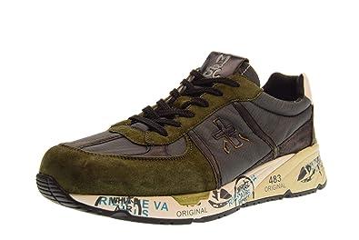 PREMIATA Schuhe Herren niedrige Turnschuhe Mase 3555 Größe 42 Grün grau 01e97ac3e7